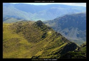 Striding Edge From The Summit by oggyb