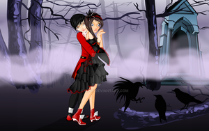 The vampire couple me and Alex by mj48