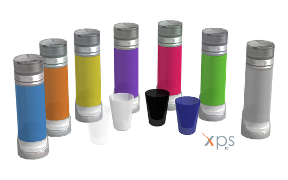 ME2 Drink Cylinders + Glasses for XPS by Just-Jasper