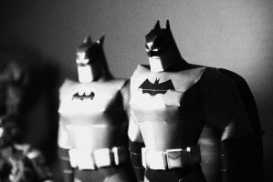 batman animated papercraft by PatilMITH