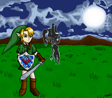 Link and Midna by Tarem