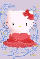 Hello Kitty for my cousin-not andrea- by Kristadidileey
