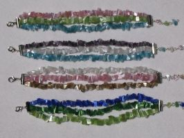 Cats Eye bracelets  2005 by JessDismontJewelry