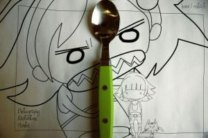 O_O and D: vs the Spoon by misssakura