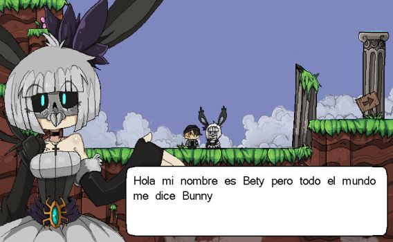 hablando con bunny by julif-art