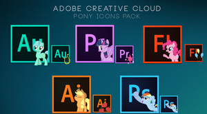Adobe Creative Cloud - Pony icons pack by Nyan-PTX
