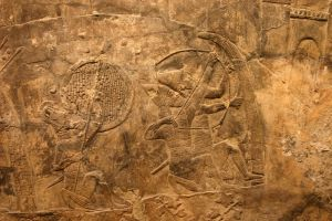 Ancient Assyrian Wall Carving by FoxStox