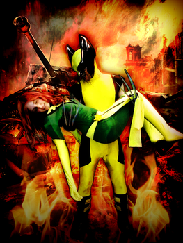 Wolverine and Phoenix Cosplay by nrxia