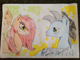 Two ponies by MoonCloudTheBrony