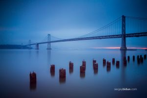 Early sunrise at Bay Bridge by sergey1984