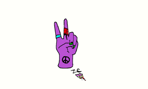 peace out by zombiefied-cupcake