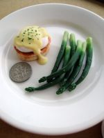 eggs benedict and asparagus 1-3 by Snowfern