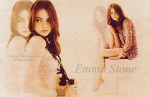 Emma Stone Wallpaper 1 by DrainedWithConfusion