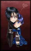 Chibi Sebastian and Ciel by fallnangeltears