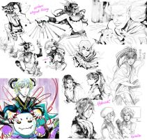 Doodle Dump Jan-Apr 2010 by silpholion