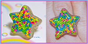 Sprinkle Star Ring by bapity88