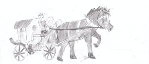 Horse and cart by Froncake