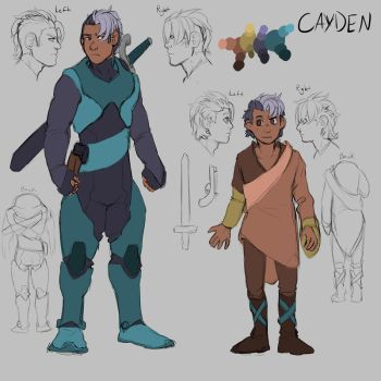 Cayden Concept Art by AraPersonica