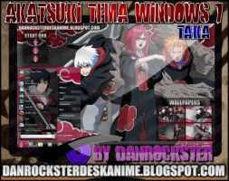 Taka Team Akatsuki Theme Windows 7 by Danrockster