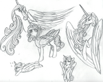 Princesss FlurryHeart Sketches by FountainStranger