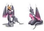 Comission: Latex Cynder TF suit by KeldeoBoy