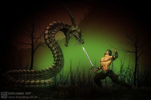 FightTheSerpent by MtPvonExplodingArt