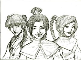 Fire Nation Girls by littlewendycat