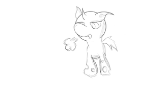 Changeling Sketch! by posipony