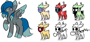 Pony and Skull Adopts! [OPEN] [4/7] by rexiboo