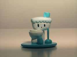 Little Toilet Blue by ricebowlfactory