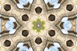Temple of the Flying Panorama Kaleidoscope by CarlosAE