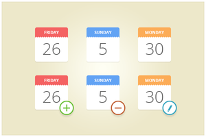 145 Calendar Icons (freebie by pixelcave) by pixelcave