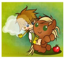 Bilbo Baggins And Pony by FrauV8