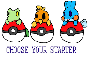 Choose your starter! by PokeFlamey