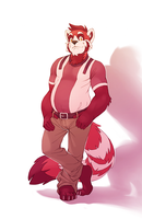 Panda Red by Orangetavi