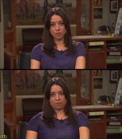 Aubrey Plaza - Morph Request (Before and After) by MattBrewer