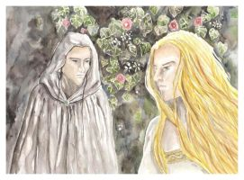 Galadriel and Melian by losselen