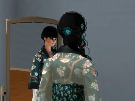 Sims 3 - Look at Kitty Katswell's new geisha hair by Magic-Kristina-KW