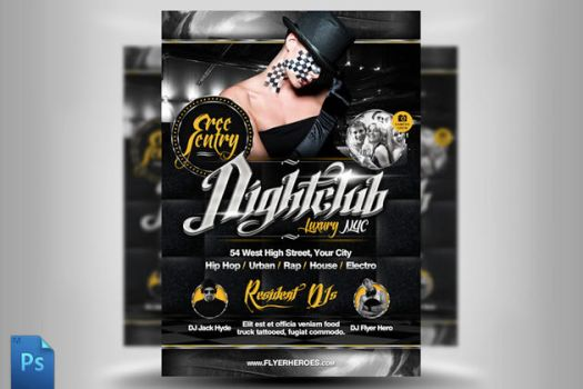Chrome Nightclub Flyer Template by quickandeasy1