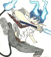 Rin Okumura (coloured) by Anna-chan14