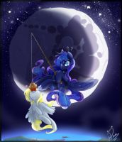 Lunar 1: Crescent Moon by Pomnoi