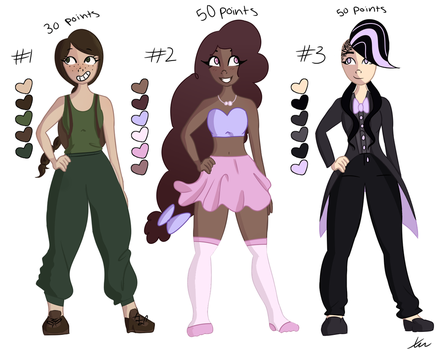Cheap Adoptables (30-50 points) by midnightimpact
