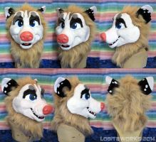 Blonde Opossum Head by LobitaWorks