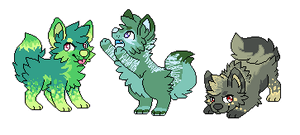 Pixel Wolf Adopts -Auction- ~Closed~ by AsylumMutt
