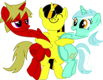 Firebolt, Eclipse Glare and Lyra Heartsrtings by wolfyka