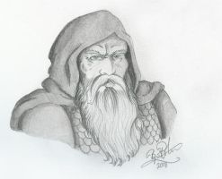 Portrait of a Dwarf Warrior by DelanoirART