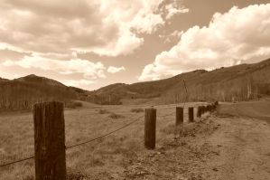 post fence by Mirage-Photography
