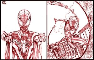 More UC:SPIDER MAN pencils by NikolasDraperIvey