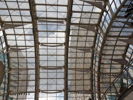 Glass junction between mall and hotels 2 by sakaphotogrfx
