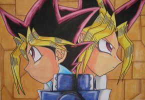 yugi and yami by nikra